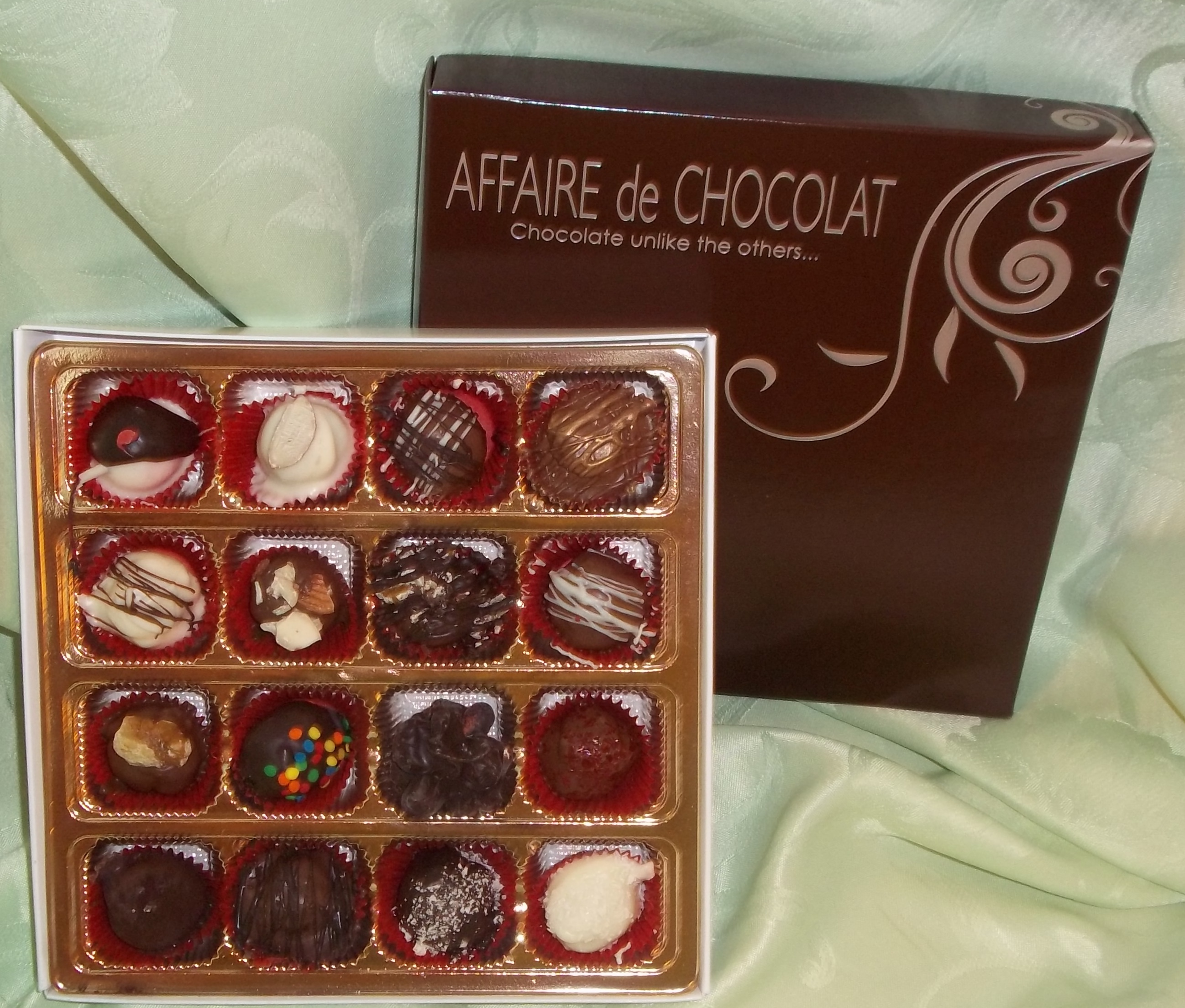 16 Piece Gourmet Truffles and Chocolates
