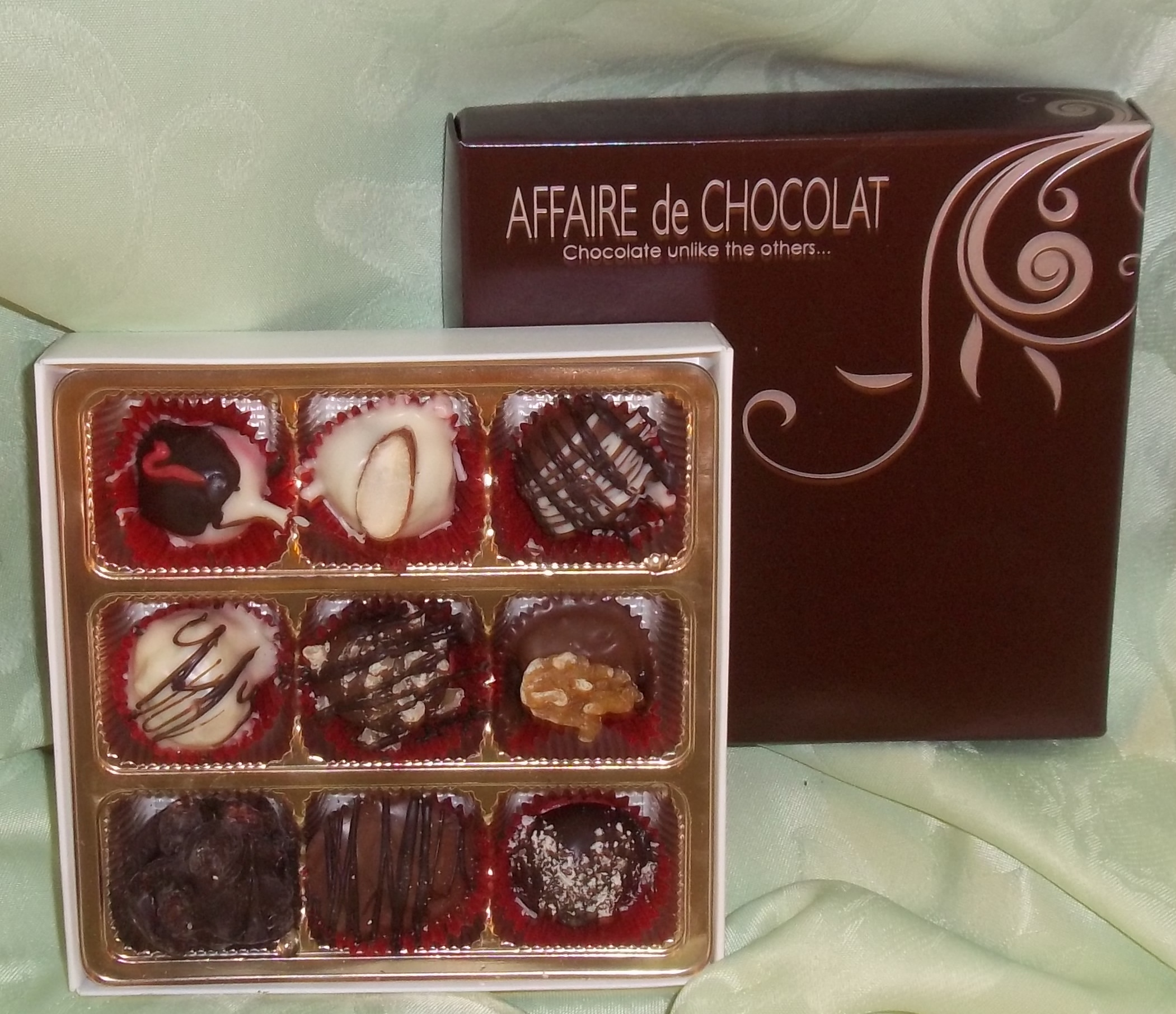 9 Piece Gourmet Truffles and Chocolates